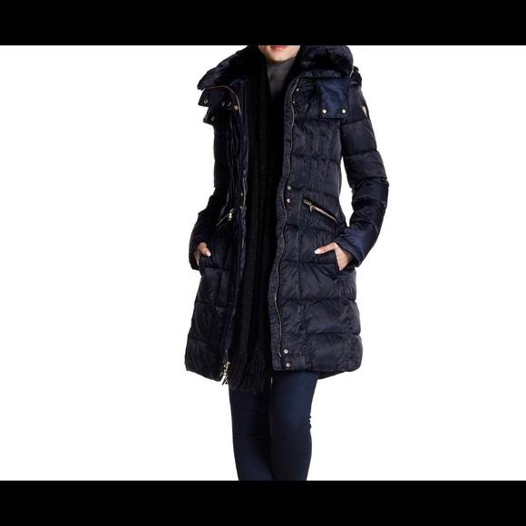 191d6b22f Vince Camuto – Faux Fur Trim Down Coat NAVY NWT